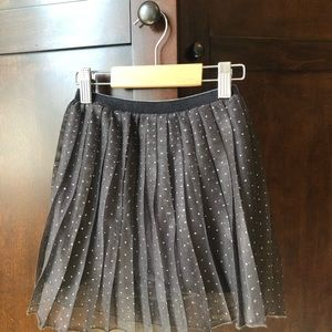 Little Girls Brown Tulle Zara Skirt w/Silver Dots